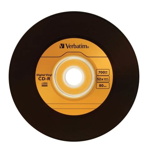 verbatim printable vinyl cd verbatim 700 mb 52x digital vinyl cd r 50 disc spindle