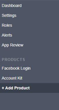 facebook app options