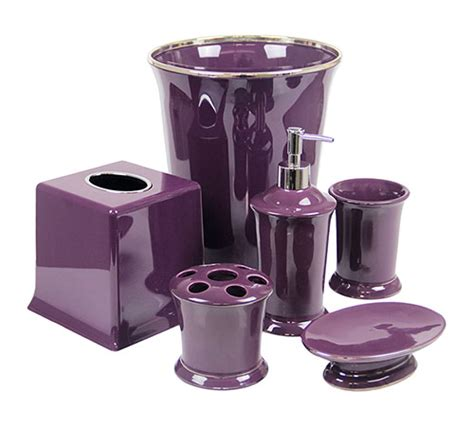 Regal Purple Bathroom Accessories Deluxe Set Purple Purple Bathroom Accessories Sets
