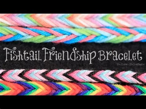 DIY Fishtail Friendship Bracelet   Easy String Bracelets How To   SoCraftastic   YouTube