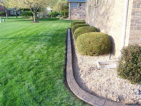 decorative concrete edging concrete landscape edging border and curbing in mo