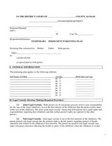 co parenting contract template sle parenting plan form free