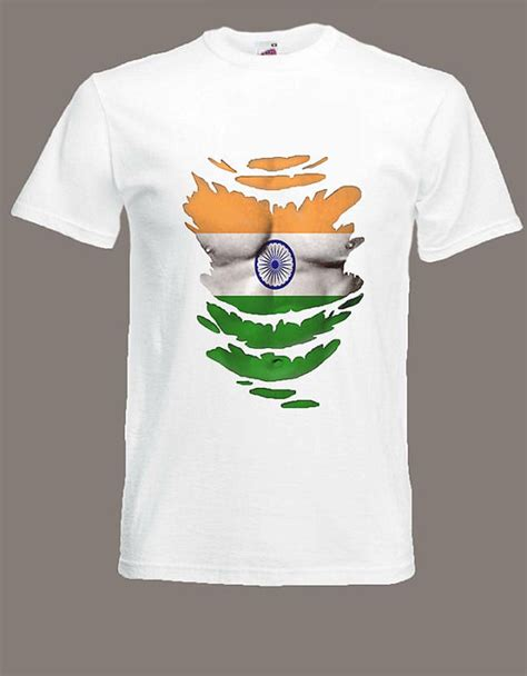 T Shirt India Indian Flag T Shirt See Muscles Through Ripped T Shirt India