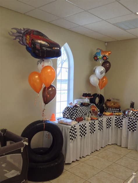 car themed baby shower decorations refreshment table for car themed baby shower ideas