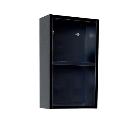 Bathroom Side Cabinet Fresca Black Bathroom Linen Side Cabinet W 2 Open Storage Areas Burroughs Hardwoods Store