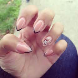 simple pointy nail design nail designs pinterest