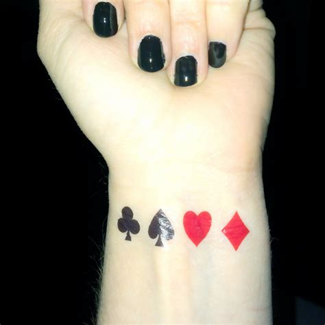 tattoo poker queen playing card tattoo poker queen of hearts club diamond