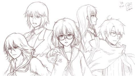 Blazer Chihaya 2boys 3girls Aoki Hagane No Arpeggio Artist Name Blazer