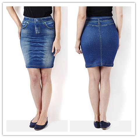 Rok Pelangsing by Rok Mini Genie Shape Skirt Denim Shape