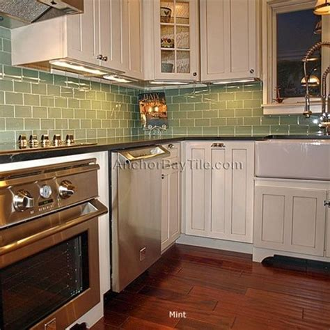 Green Kitchen Backsplash Tile Best 25 Green Subway Tile Ideas On