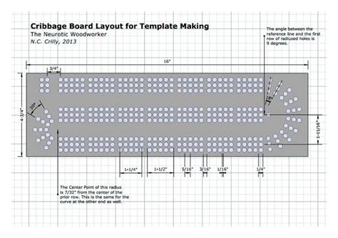 cribbage templates cribbage board template another cool idea