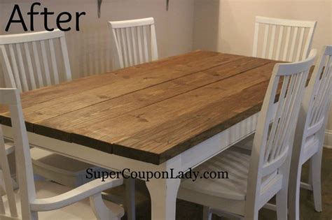 diy project refinishing dining room table chairs