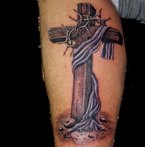 cross and thorns tattoo ephesian cross with crown of thorns tattoos