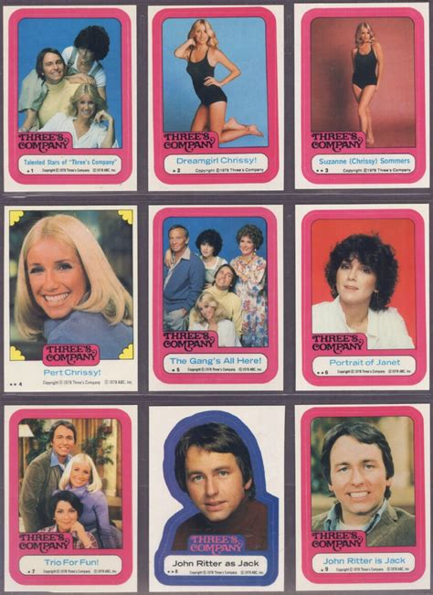 three s topps three s company stickers