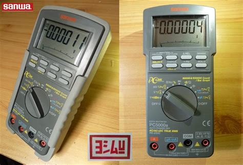 Multimeter Sanwa Pc 5000 jual sanwa digital multimeter pc5000a everything4u