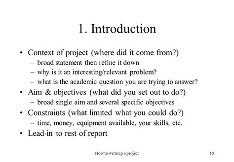 how to write project paper how to write up a project ppt