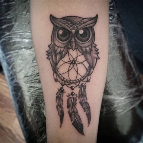 tattoo dreamcatcher with owl owl dreamcatcher tattoo tattoo collections