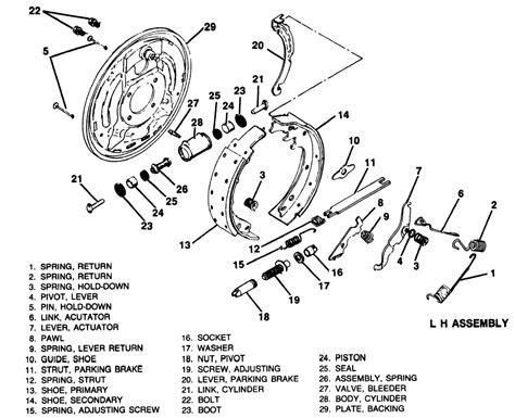 chevy drum brakes diagram chevy brake shoe diagram autos post autos post