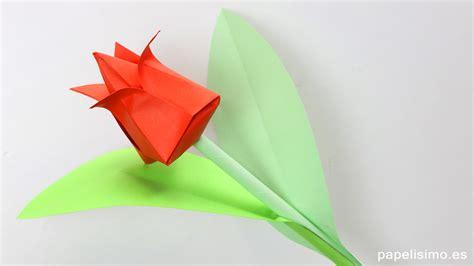 imagenes de flores origami tulip 225 n de papel flores de origami papiroflexia