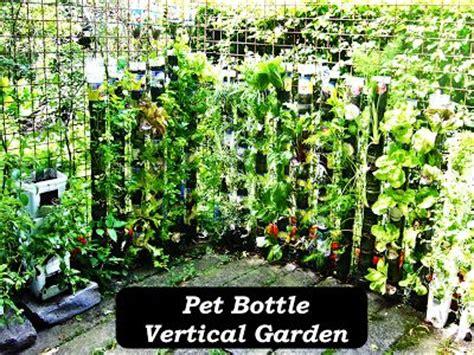 vertical gardening bottles