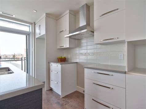 entretien hotte de cuisine cuisine moderne avec comptoir de quartz facile d entretien