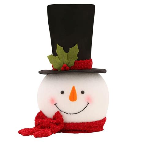 light weight christmas trees tree snowman light weight tree topper scarf black hat 18 in decor ebay