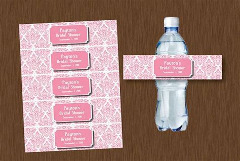 Bridal Shower Label Templates by Free Downloadable Wedding Water Bottle Labels New