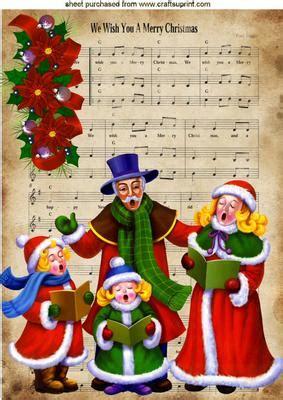 merry christmas carol singers  cup craftsuprint
