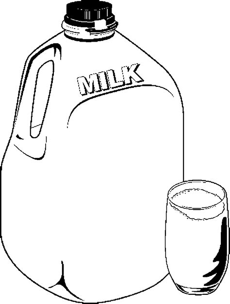free coloring pages of milk