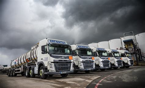 safety sustainability  support seal deal  twelve  volvo fm tractor units  brenntag