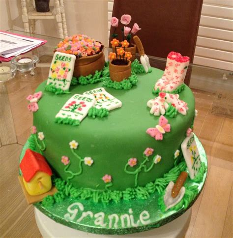 garden themed cake decorations gardening themed cake garden themed cake ideas