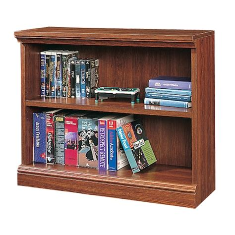 sauder 2 shelf bookcase cherry