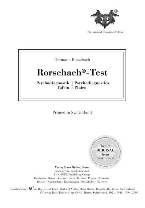 test di rorschach tavole tavole rorschach test libreria kappa