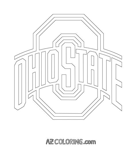 Osu Coloring Pages ohio state buckeyes coloring pages coloring home