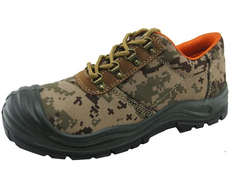 waterproof canvas fabric safety shoes