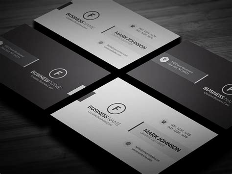 clean minimalistic business card template 187 free