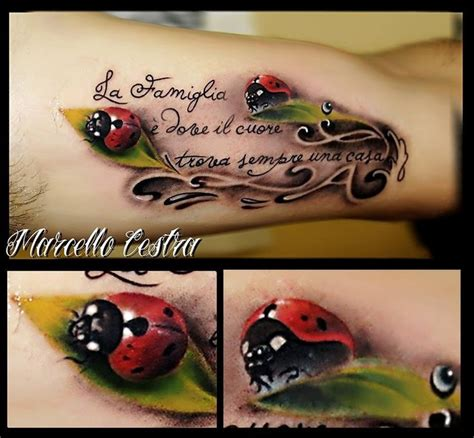 3d ladybug tattoo tattoos pinterest beautiful