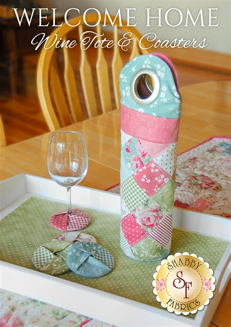 top 28 shabby fabrics wine tote welcome home wine tote coasters pattern sweet strawberry