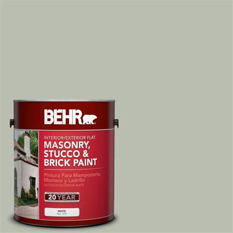 behr premium 1 gal ms 50 prairie flat interior exterior masonry stucco and brick paint
