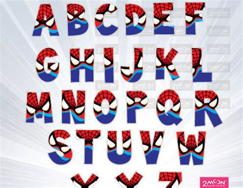 printable superhero font spiderman alphabet png super font super hero movie