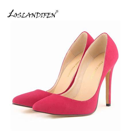 loslandifen pointed toe high heels shoes