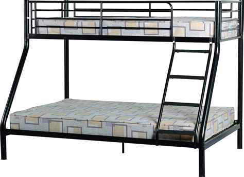 study bunk bed frame with futon chair black triple sleeper metal bunk bed frame one stop