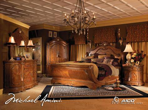 michael amini cortina luxury bedroom furniture set honey