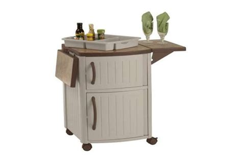 Serving Station Patio Cabinet by Suncast Dcp2000 Serving Station Cabinet Vminnovations