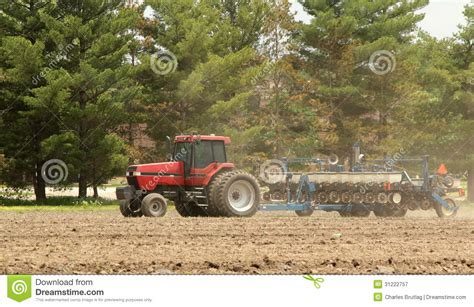 Farm Planters by Planting A Farm Field Royalty Free Stock Photography