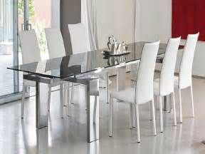 Contemporary Glass Dining Room Table Glass Top Dining Room Tables