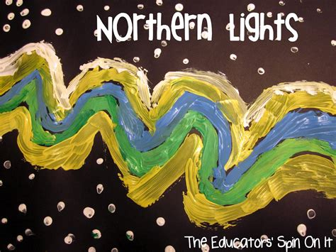 sweden holiday craft for kids exploring northern lights with through and the educators spin on it