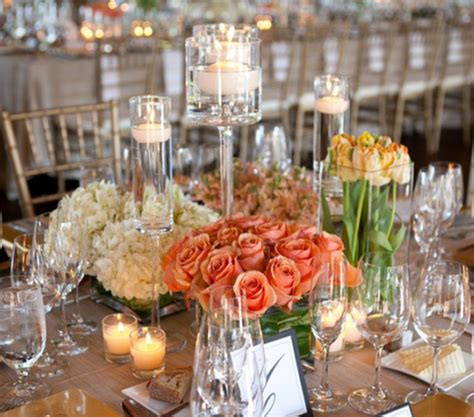 wedding reception table decorations with candles centerpices archives weddings romantique