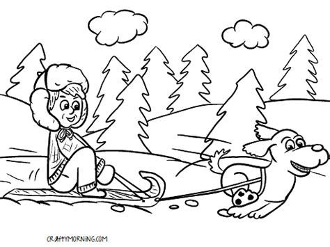 snow coloring pages dog and kid in winter grig3 org dog sledding coloring pages coloring pages ideas