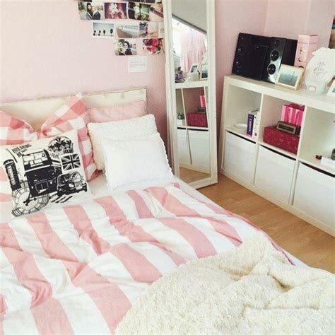 All White Bedroom Ideas room goals rooms dream room pink stripes white